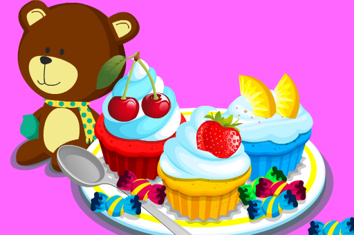 Cooking Colorful Cupcakes