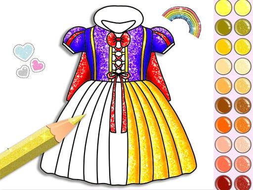 Раскраска принцесса с блестками