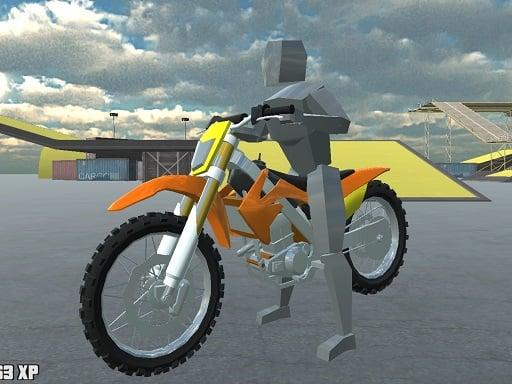Спортивный трюк на велосипеде 3D