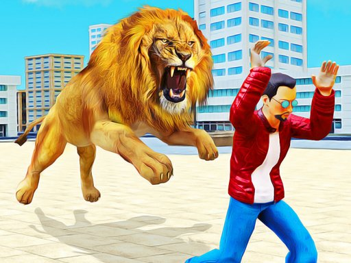Lion Simulator Attack