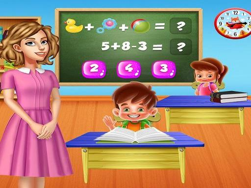 Kindergarten School Teacher Kids Learning Games