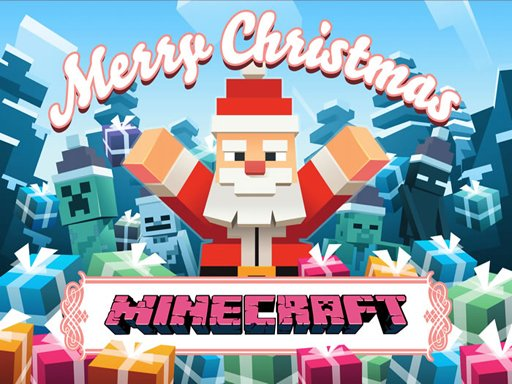 Play MineCraft Christmas Jigsaw  Puzzle Online