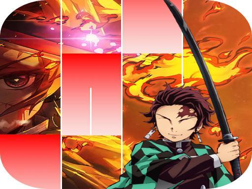 Anime Kimetsu no Demon Slayeri Piano Tiles