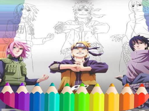 Naruto Shippuden Coloring Book: draw Book Ninja