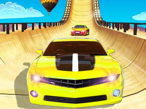 Экстремальные автомобильные трюки с рампой 3d модель