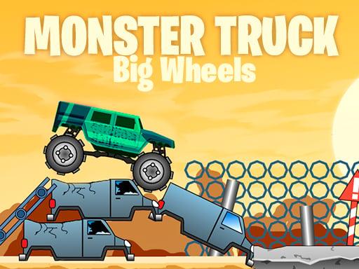 Грузовик-монстр с большими колесами