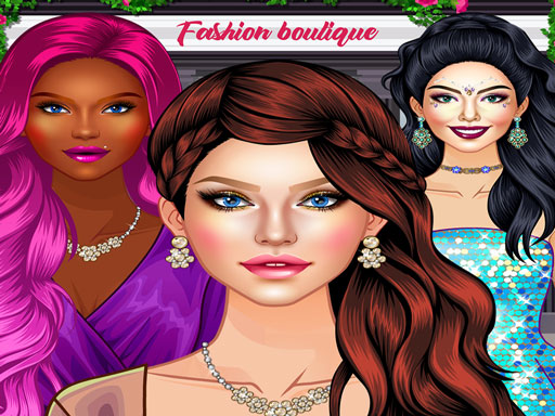 Glam Girl Fashion Shopping - Makeup and Dress-up