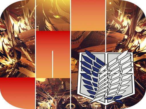 Eren Titan AOT Shingeki Anime Piano Tiles
