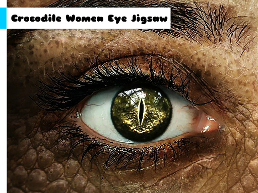 Crocodile Women Eye Jigsaw