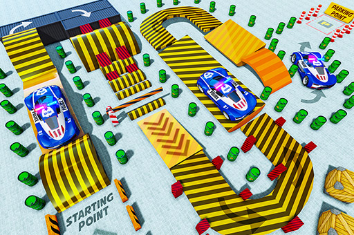 Police Multi Level Car Parking Games