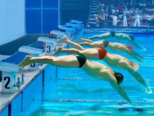 Гонка в бассейне