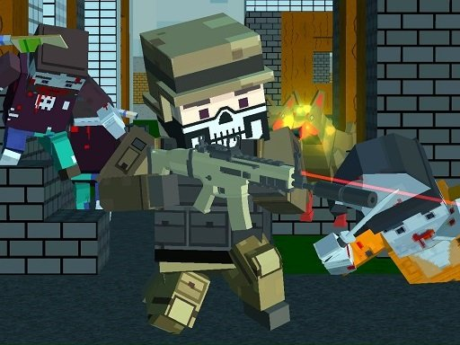 Play Pixel shooter zombie Multiplayer