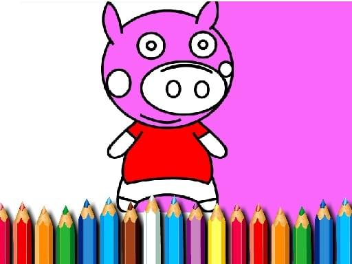 Раскраска Свинья BTS