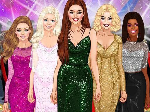 Red Carpet Dress Up Girls Game - girls