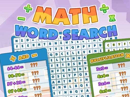 Math Word Search