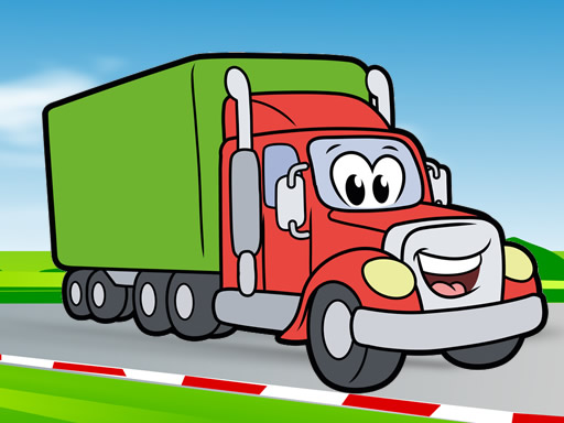 Happy Trucks Coloring