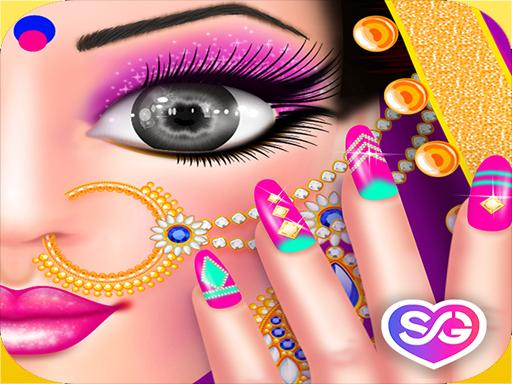 Play Gopi Doll - Fashion Nail Art Salon