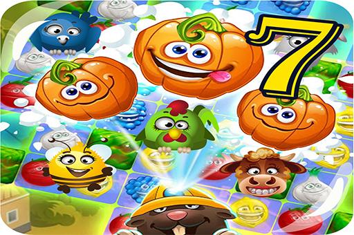 Funny Faces Farm Match3 Mermaid - treasure game