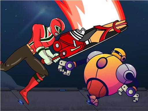Могучие рейнджеры убивают роботов