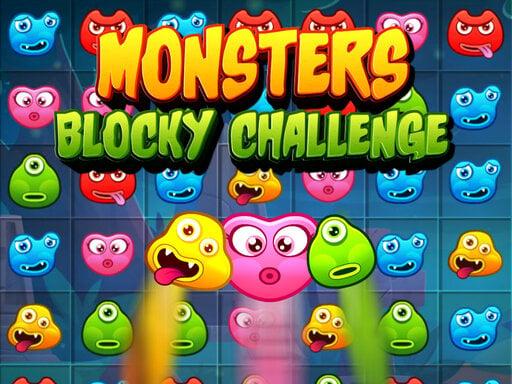 Monsters Blocky Challenge