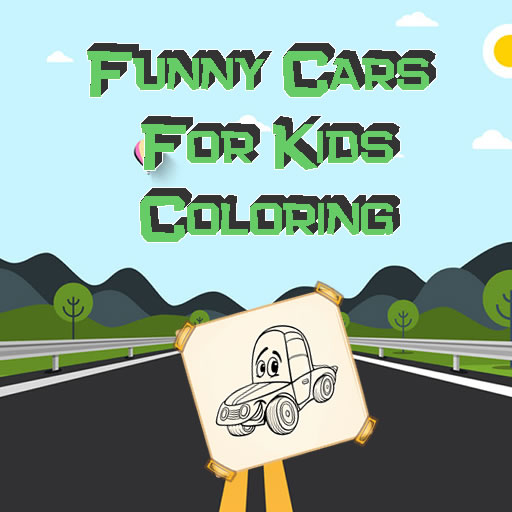 Funny Cars For Kids Coloring
