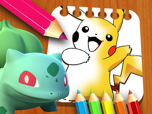 Play Pokemon Coloring Book for kids