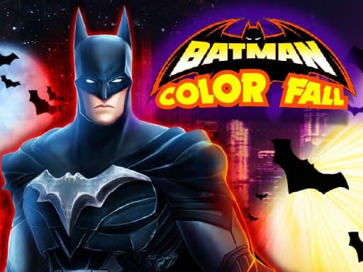 Play Batman Color Fall Puzzle Game