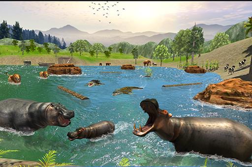 Wild HIPPOPOTAMUS Hunting