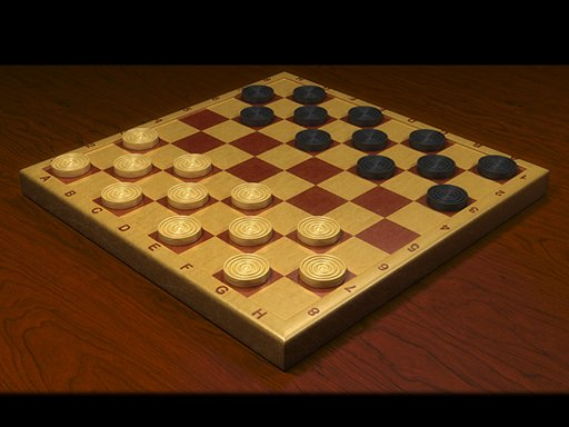 Checkers Dama chess board