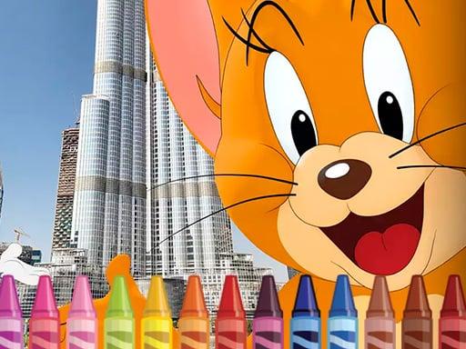 Раскраска Том и Джерри