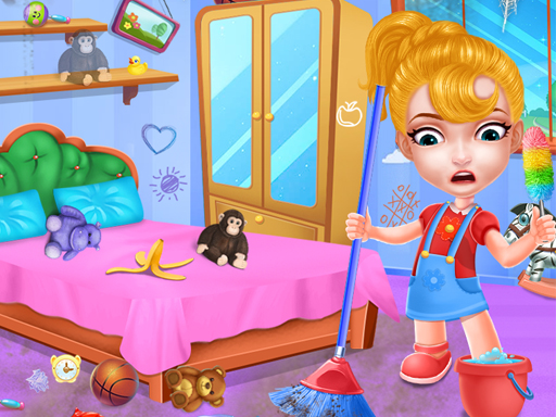 Play Baby Doll House Cleaning Game
