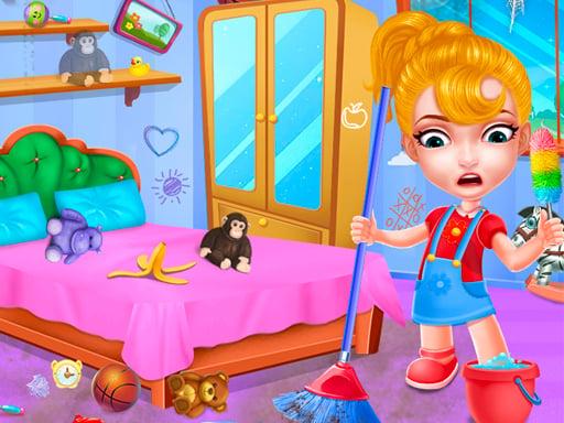 Игра по уборке кукольного домика