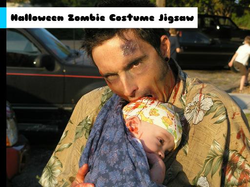 Play Halloween Zombie Costume Jigsaw Online