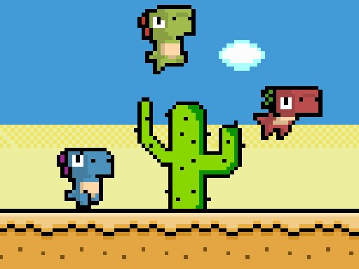 Pixel Dino Run - New Games - Cool Math Games
