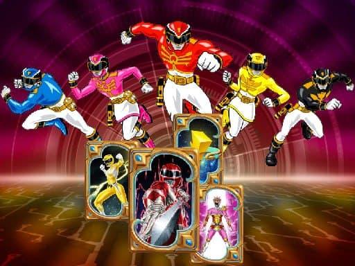 Подбор памяти Power Rangers – игра-головоломка