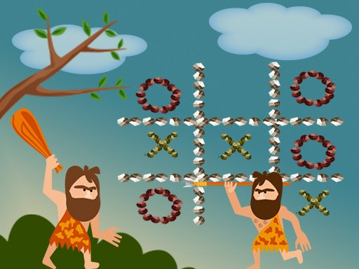Play Tic Tac Toe Stone Age Online