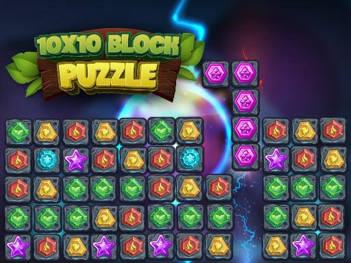 Головоломка с блоками 10×10