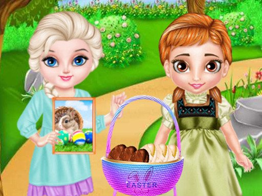 Замороженный ребенок с Пасхой
