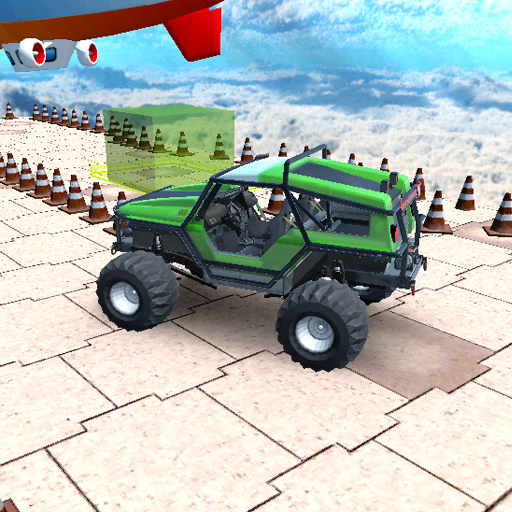Impossible Sky Car Parking Simulation