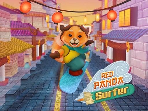 Красная панда-серфер
