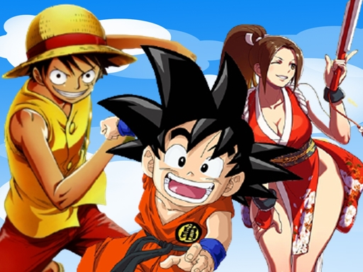 Play Goku, Luffy & Mai Run