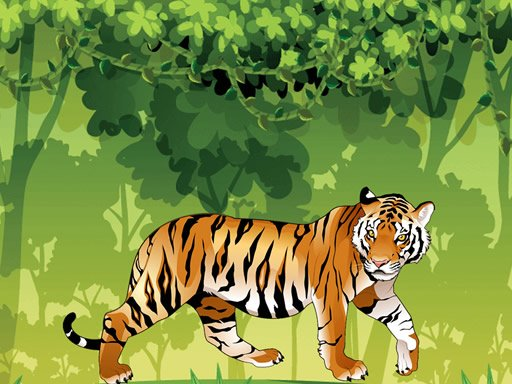 Play Angry Tiger Coloring Online
