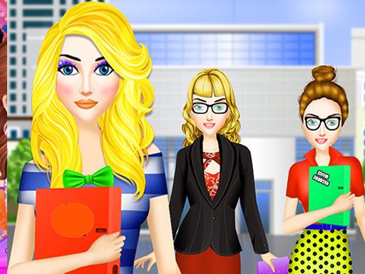 Office Dress Up Fashion Makeover: Girl Dress up