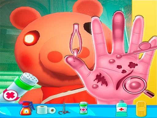 Piggy Hand Doctor Fun Games for Girls Online