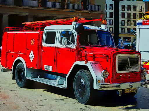 Play Firetruck Puzzle Online