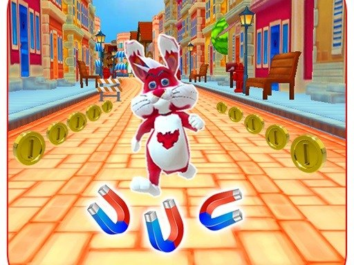 Subway Bunny Run Rush Rabbit Runner Game - Popular Games - Cool Math Games