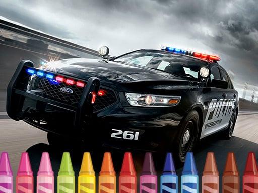 Раскраска Полицейские Машины