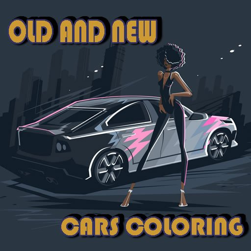 Old And New Cars Coloring