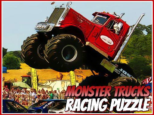Play Monster Trucks Racing Puzzle Online