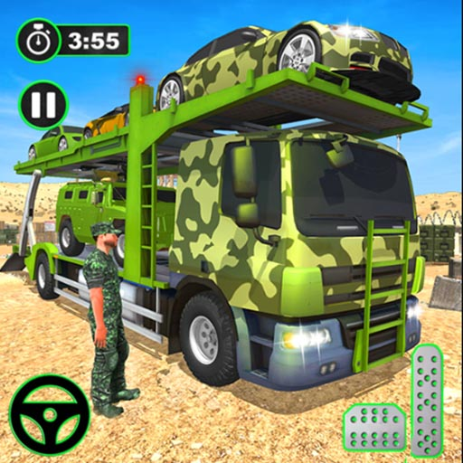 US Army Cargo Transport Truck Driving